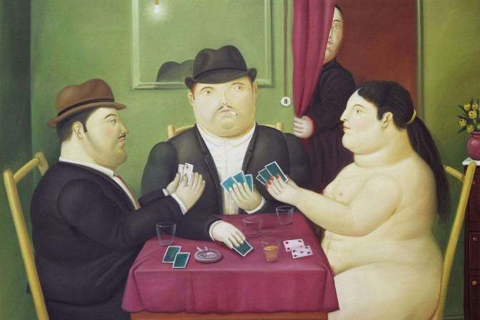 Fernando-Botero-Card-Players-1991-via-pinterest-com